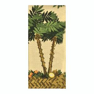 Tropical Waffle Printed Palm Tree Dish Towel 26780