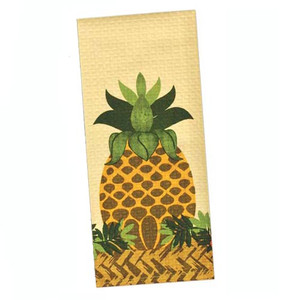 Tropical Waffle Printed Pineapple Dish Towel 26780P