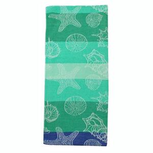 Sea Shells Jacquard Dishtowel Green 26893G