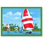 Regatta Sailing Christmas Cards Box of 16