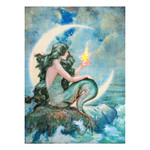 Lighted Moon Scape Mermaid Canvas
