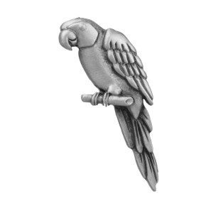 Parrot Pewter Clutch Pin 6017CP
