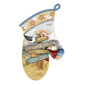 Beach Signs Oven Mitt R2935