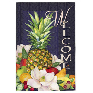 "Pineapple Bounty ""Welcome"" - Garden Flag - 12"" x 18"""