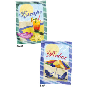 "Escape Relax Two Side Beach Fun House Flag - 29"" x 43"" 13S2010FB"