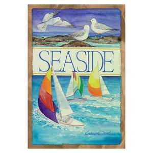 Sailboat Seaside Beach GARDEN Flag - 119881
