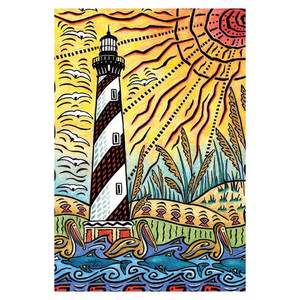 Lighthouse Beach GARDEN Flag - 1110034