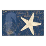 "Coastal Midnight Moonlight Welcome Floor Mat - 18"" x 30"" - MatMates - 11140D"