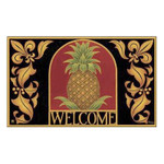 "Pineapple Tropical Welcome Floor Mat - 18"" x 30"" - MatMates - 16220D"