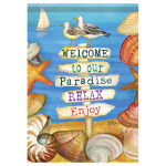 "Signs of Paradise - House Standard Flag - 28"" x 40"" - 47905"