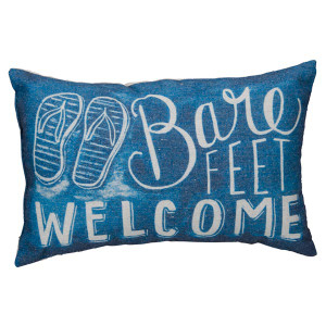 Flip Flops Accent Pillow Bare Feet Welcome - 24005