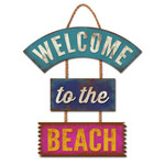 Welcome to Beach Wooden Sign 30-00057