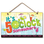"""Beach Time Wood Sign """"It's 5 O'clock Somewhere"""" - 41-164"""