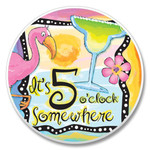 5 O'Clock Somewhere - Stone Car Coaster Cupholder 03-00371
