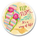 Flip Flops - Stone Car Coaster Cupholder 03-102