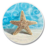 Beach Starfish Stone Car Coaster Cupholder 03-054