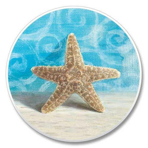 Beach Starfish Stone Car Coaster Cupholder 03-054