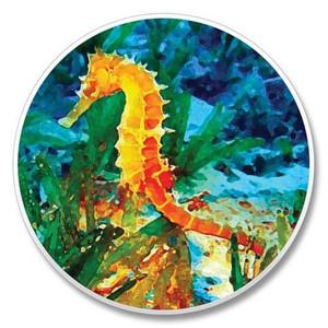 Beach Seahorse Stone Car Coaster Cupholder 03-091