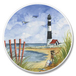Tropical Lighthouse Round Car Auto Coasters 03-483
