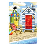 Cottages at Beach House Size Flag - JFL142L