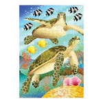 Beach Swimming Sea Turtles House Size Flag - JFL156L