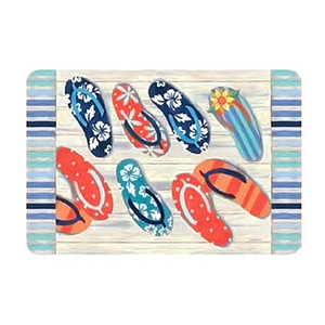 "Flip Flops Kitchen Placemat ""Beach Bummin"" - R1469"