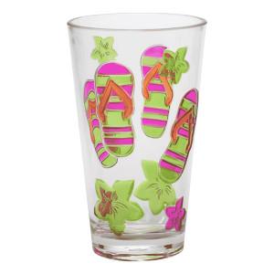 Flip Flop Fun Pink Acrylic Tumbler Cup 20 Oz 21685P
