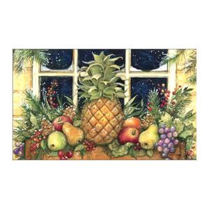 """Winter Pineapple Welcome Floor Mat - 18"""" x 30"""" - MatMates - 15000"""