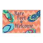 """Flip Flops Barefeet Welcome Floor Mat - 18"""" x 30"""" - MatMates - 11157"""