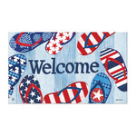 Welcome Flip Flops Patriotic Floor Mat by MatMates 11315