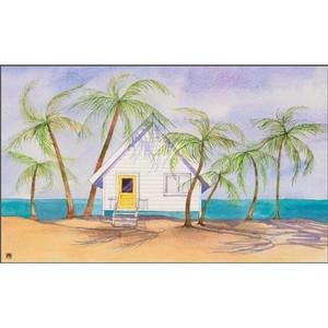 "Beach Theme Floor Mat ""Beach House"" MatMates 16518"