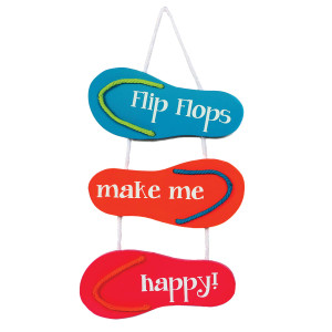 Flip Flops Happy Wooden Sign - 60339-OR