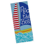Sail Boat Printed Cotton Towel 27985