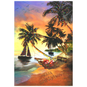 Beach Hammock Christmas Cards 10 Box C73698
