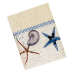 Sea Shells Antigua Ivory Wash Cloth - 35713
