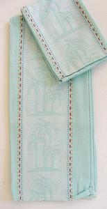 Palm Tree Jacquard Dish Towel and Dishcloth - 17604