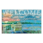 "Welcome Paradise Beach Floor Mat - 18"" x 30"" - MatMates - 12348D"