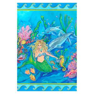 """Mermaid Ocean Dolphin Garden Flag - 12"""" x 18"""" - 1110198"""
