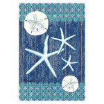 Blue Starfish Shells Sand Dollar GARDEN Flag - 1110256