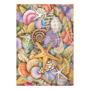 Colorful Sea Shells Starfish GARDEN Flag - 119462