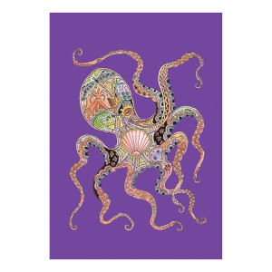 Octopus Art Garden Flag - 119613