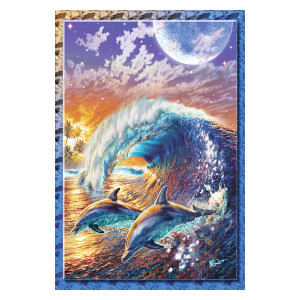 Dolphins in Surf Garden Flag - 119848