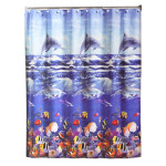 Dolphin Ocean Life Vinyl Shower Curtain - 49074