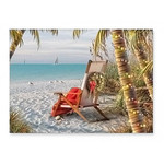 Palm Chaise Beach Christmas Cards 16 per Box 27-084