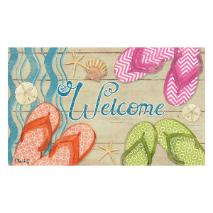 Flip Flop Fun Welcome Floor Mat 2393M