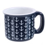 Mug - Ceramic Blue Anchor 16oz - 20386B