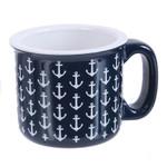 Mug - Ceramic Blue Anchor 16oz - 20386B