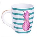 Pineapple Stripe Jumbo Mug Blue 24oz - 60653B