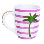 Palm Tree Stripe Jumbo Mug Pink 24oz - 60653P