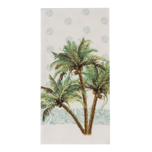 Palm Trees Coconuts Cotton Towel R3043